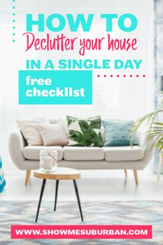 How to Declutter Your House in One Day - ShowMe Suburban Bill Organization, Bathroom Organization, Organizing, How To Organize Your Closet, Declutter Your Home, Record Storage, Decluttering, Decoration, Clean House
