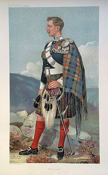The 8th Duke of Atholl. John George Stewart-Murray, known as 'Bardie,' from his caricature in Vanity Fair, 1905. He raised The Scottish Horse and distinguished himself in the Boer War, earning the DSO and a CB