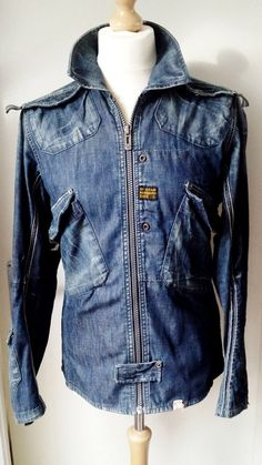 G-Star Raw Denim Jacket Mens Size M Blue Cool n Trendy!