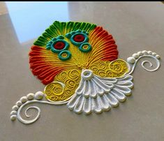 Easy Rangoli Designs Videos, Colorful Rangoli Designs, Rangoli Designs Diwali, Rangoli Designs Images, Kolam Rangoli, Diy Birthday, Birthday Gifts, Rangoli Patterns, Small Rangoli