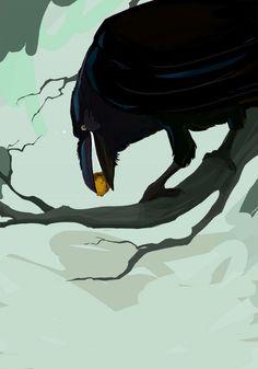 Raven, by nafah.deviantart.com