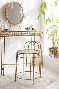 $159 - vanity in the bedroom - Plum & Bow Wire Loop Vanity - Urban Outfitters