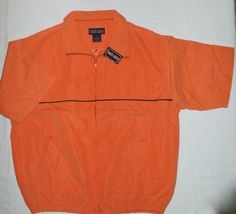 Sport Microfiber Front Zip Short Sleeve Lined Golf Bright Orange Jacket Coat | eBay  Q: Why did the blonde stare at frozen orange juice can for 2 hours? A: Because it said 'concentrate'.