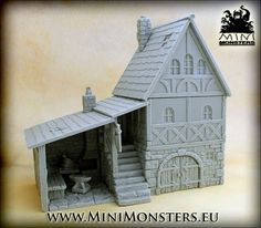 Tabletop Fix: Mini Monsters - Medieval Blacksmith House Release