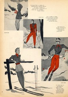 fregole.com #fregole #fashion #snow  #illustration #mountain #vintage #ski#Jacques #Heim 1938