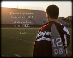 Senior pic idea / Also love how he has the scripture verse on his letterman. What a great way to take a stand for God!