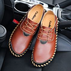 Men's Stitching Soft Sole Breathable Casual Lace Up Driving Loafers - NewChic Mobile.