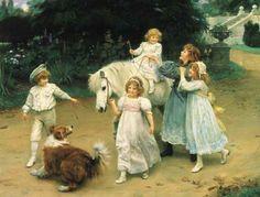Golden Hours  by  arthur-john-elsley-1860-1952-english