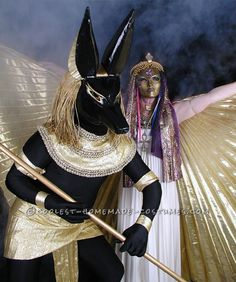 Constructing our Anubis and Isis Costumes ...This website is the Pinterest of costumes