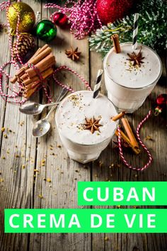 Even if you aren't Cuban, this easy crema de vie recipe will change how you celebrate the holidays with Cuban eggnog. Party Drinks, Cocktail Drinks, Cocktails, Holiday Parties, Holiday Decor, Host A Party, Non Alcoholic, Christmas And New Year, New Years Eve