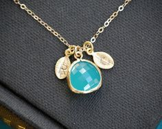 Custom Initial Gold Necklace Personalized by SilverLotusDesigns, $32.00