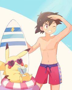 Vacances été chaud #Pokemon #Dessin piccapuu #JeuVidéo