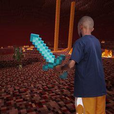 ThinkGeek :: Minecraft Foam Diamond Sword