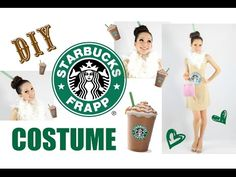 Starbucks Frappuccin is listed (or ranked) 11 on the list Last Minute DIY Halloween Costumes Even You Can Make Starbucks Halloween Costume, Food Halloween Costumes, Diy Couples Costumes, Cute Costumes, Family Costumes, Halloween Kostüm, Holidays Halloween, Costume Ideas, Halloween Decorations