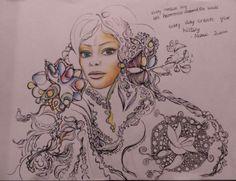 Drawing from 2014. Unite Feminine Vibration Holder