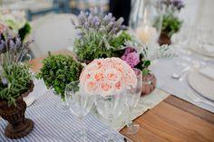 Decoração de Casamento Vintage - Lavandas e Rosas