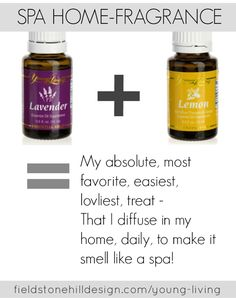 Your home will smell like an amazing spa!! Seriously!! Spa Home Fragrance, YL Essential Oils, via @FieldstoneHill 1413674