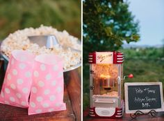 popcorn bar – after-party food - 8 foods to serve towards the end of the reception for guests that need to sober up! Lol