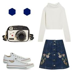 """""""Untitled #200"""" by godslover666 on Polyvore featuring Topshop, Haider Ackermann, Converse, Betsey Johnson and Wolf & Moon"""