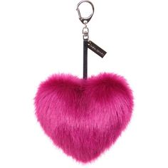 Helen Moore Faux Fur Heart Keyring - Magenta (€34) ❤ liked on Polyvore featuring accessories, keychain, keyring, bags, pink, heart shaped key ring, ring key chain, key chain rings, heart key ring and heart key chain