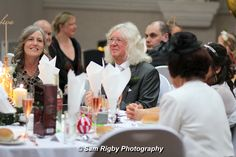Wedding guests enjoying the speeches