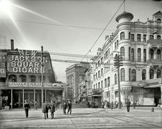 Carondelet Street and Canal St (?) 1905, great detail