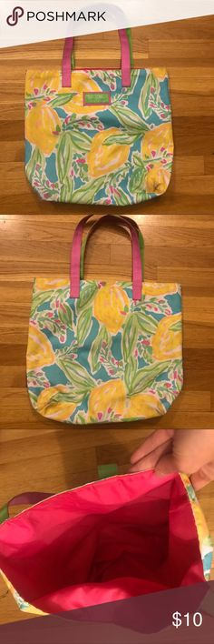 Lilly Pulitzer Canvas Tote! CUTE Canvas tote designed by Lilly Pulitzer for Estee Lauder. Slightly used, but in excellent condition! Lilly Pulitzer Bags Totes