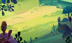 James Gilleard (2015): Cartoon Backgrounds, via behance.net