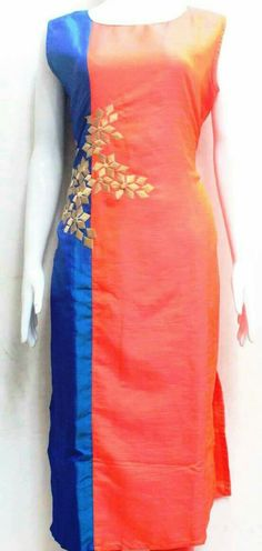 Different types of kurtis designs - Simple Craft Ideas Indian Attire, Indian Outfits, Pakistani Outfits, Kurta Patterns, Dress Patterns, Salwar Designs, Blouse Designs, Kurtha Designs, Different Dresses