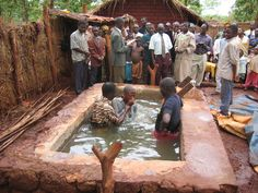 The baptism at the circuit assembly in Nyaragusu  Refugee Camp.  Tanzania