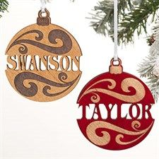a34202c9eebaa Personalized Natural Wood Name Ornament
