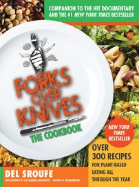 Forks Over Knives - The Cookbook | http://paperloveanddreams.com/book/510177186/forks-over-knives-the-cookbook | New York Times Bestseller A whole-foods, plant-based diet that has never been easier or tastier�learn to cook the Forks Over Knives way with more than 300 recipes for every day!Forks Over Knives�the book, the film, the movement�is back again in a cookbook. The secret is out: If you want to lose weight, lower your cholesterol, avoid cancer, and prevent (or even reverse) type 2…