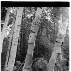 Francesca Woodman Untitled , MacDowell Colony, Peterborough, New Hampshire, Summer 1980,   gelatin silver print.