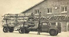 Ähtärin ajokaluliikkeen edesssä Reino Lehtomäen kuorma-auto. Monster Trucks, Historia, Autos