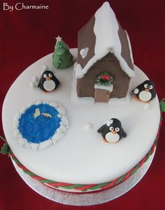 'Let It Snow' Christmas Cake by Charmain