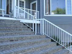 Stair Railings - Custom Built Stair Guardrails and Adjustable Stair Panels Stair Railing Parts, Railings, Stair Panels, Stairs, Decorating, Building, Home Decor, Decor, Decoration