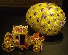 Imperial Coronation Egg, photographed at an exhibition in Rome