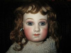 "24"" Antique Earliest Portrait Jumeau 1st Series With Almond Eye Cut - AS IS 