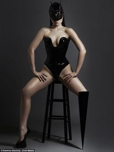 Viktoria Modesta had difficulties in birth that left her leg and hip dislocated. After 15 surgeries in Latvia, she moved to London and was mercilessly bullied at school before persuading doctors to amputate her leg.
