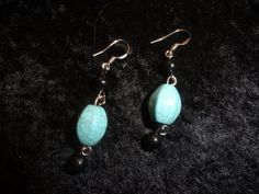Natural Turquoise Stone Pierced Earrings by MaggieRozeCreation, $5.99