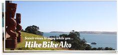 Scenic views while you Hike Bike Ako on Waiheke Island, New Zealand Waiheke Island, New Zealand, Hiking, Tours, Bike, Culture, Mountains, Travel, Walks