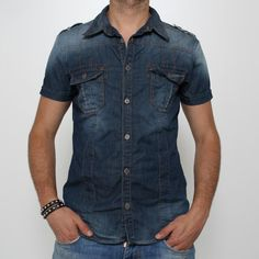 Camicia Jeans Imperial - CW40JBWD Camicia di jeans Imperial manica corta 553e8241db0