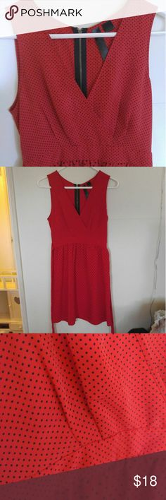 Polka dot dress Size medium super cute summer dress. Red with black polka dots good condition Dresses Midi