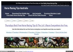 Thursdays July 6th Free Horse Racing Tips