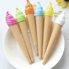 12 pcs/lote plume de crème glacée créative stylo Gel Kawaii Caneta matériau fournitures scolaires de bureau de papeterie comme cadeau pour les enfants dans Stylo-billes de Fournitures de bureau et scolaire sur AliExpress.com | Alibaba Group