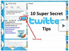 10 Super Secret Twitter Tips - PSST you can tweet from right inside this presentation! Check it out!  buy bulk twiiter