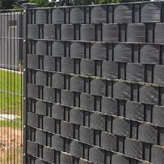 Sichtschutzstreifen Zaunblende Sichtschutz für Doppelstabmattenzaun Stabmatten, 200mm höhe für 10m2