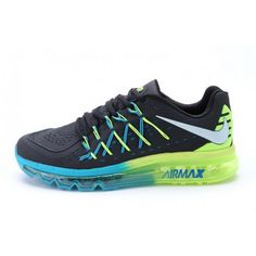 new style 94312 fea3a Mens Nike Air Max 2015 Black Green Blue Shoes Cheap Nike Running Shoes, Buy  Nike