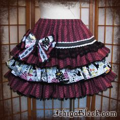 Dark Alice in Wonderland skirt. $80.00, via Etsy.