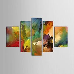 現代アートなモダン キャンバスアート 絵 壁 壁掛け 油絵の特大抽象画5枚で1セット 模様 パターン 水彩画 絵具 【納期】お取り寄せ2~3週間前後で発送予定【送料無料】ポイント